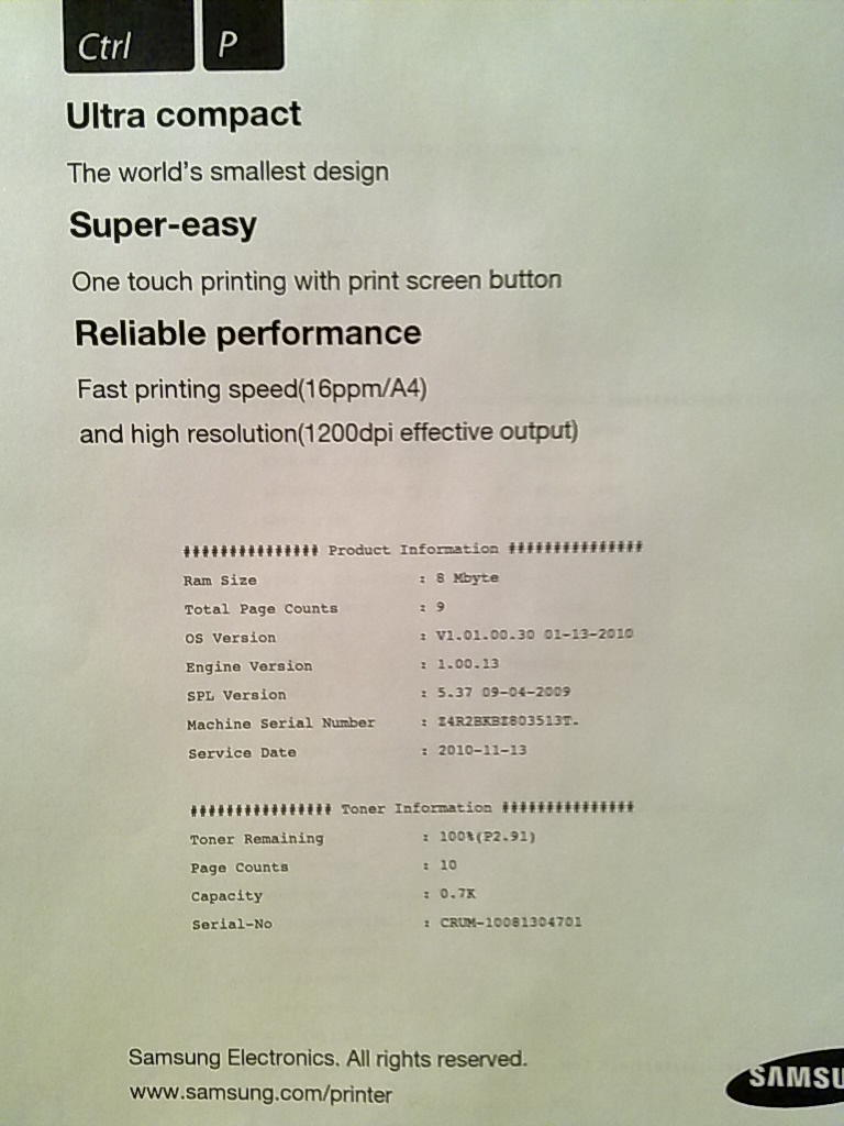 инструкция к принтеру samsung ml-1640