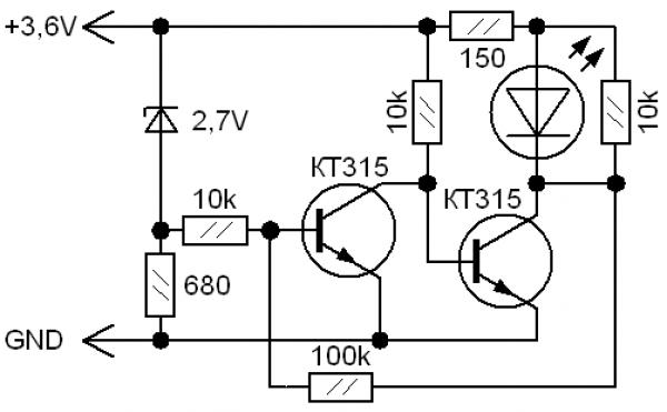 Как сделать индикатор заряда аккумулятора своими руками