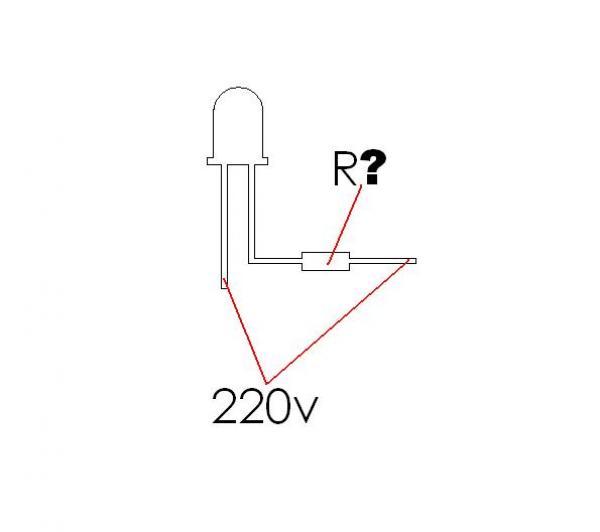 Светодиод на 220 вольт схема.