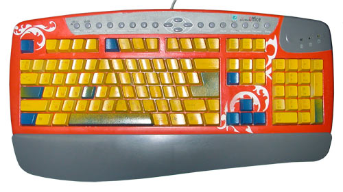 The colour keyboard with patterns