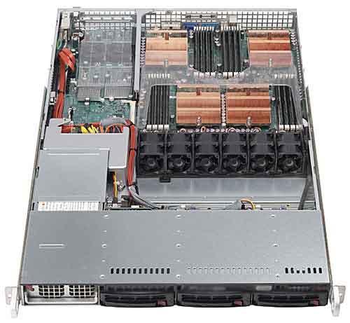 1U server inside