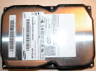 prepare a new  hard disk for installation