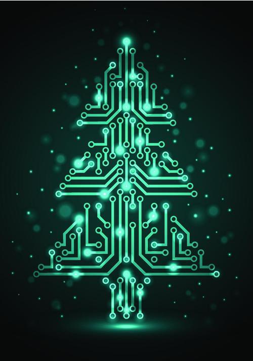 Машины, открытка для программиста на новый год
