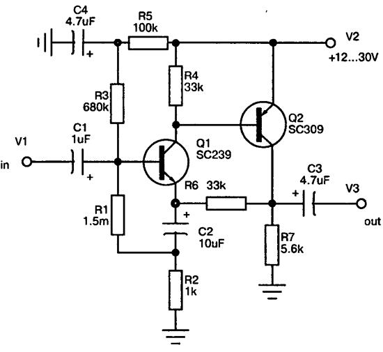 схема предварительного усилителя на транзисторах Сделай сам